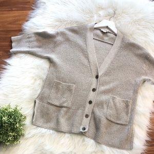 GAP Cotton Sweater Cardigan Elbow Sleeve Sz Small